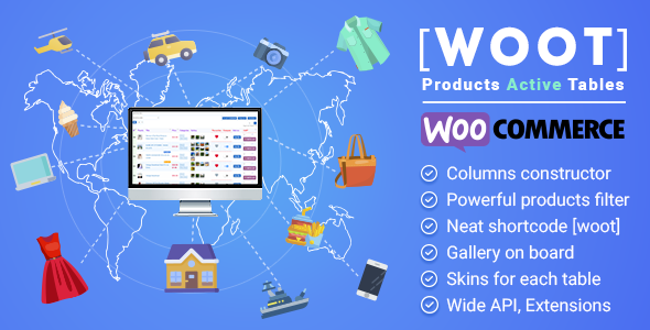 PROTAS – WooCommerce Active Products Tables