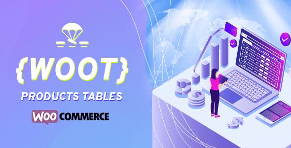 WOOT –WooCommerceアクティブ製品テーブル
