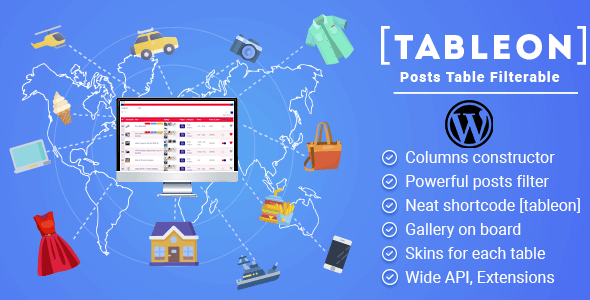 TABLEON – WordPress Posts Table Filterable